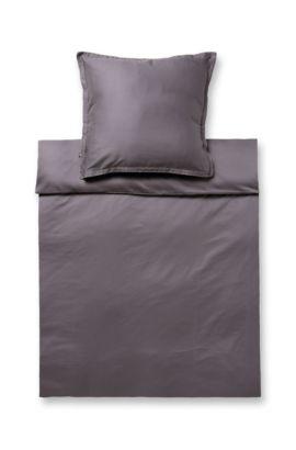 Bettdeckenbezug ´LOFT` aus Baumwollsatin, Dunkelgrau