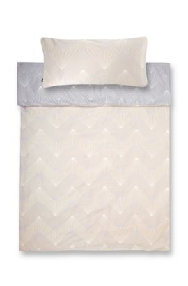 Duvet cover 'ORI' in top-quality cotton satin, Beige