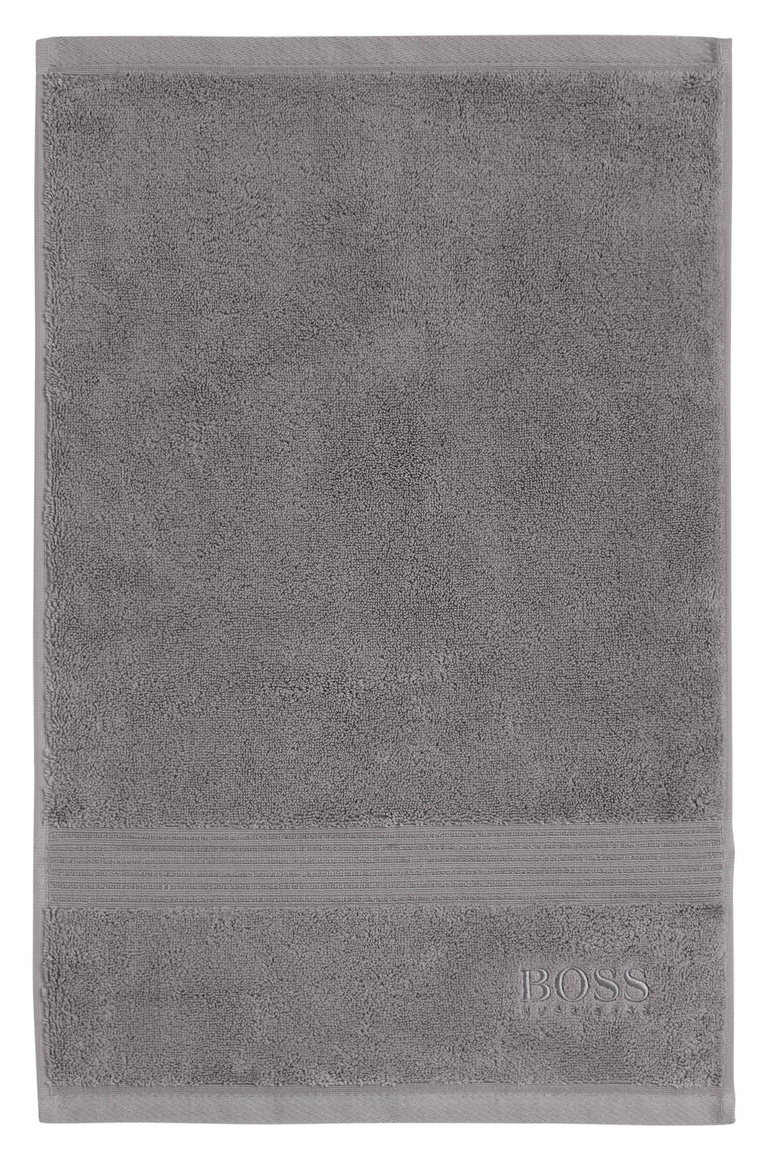 Serviette de toilette pour invité en coton égyptien peigné avec bordure côtelée