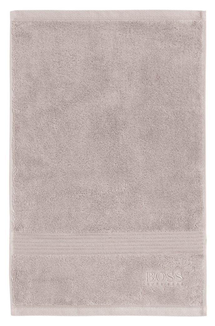 Asciugamano per ospiti in cotone egeo pettinato con bordi a coste