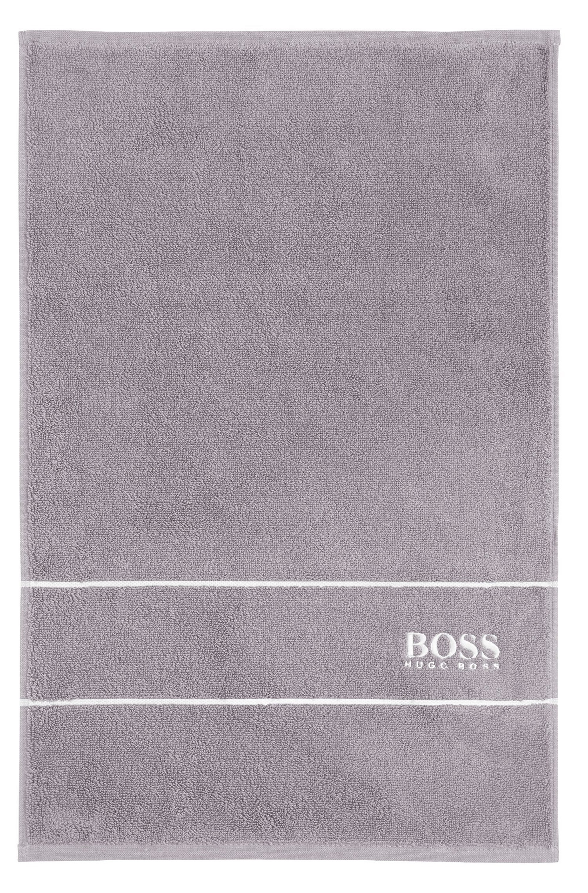Finest Egyptian cotton guest towel with logo border