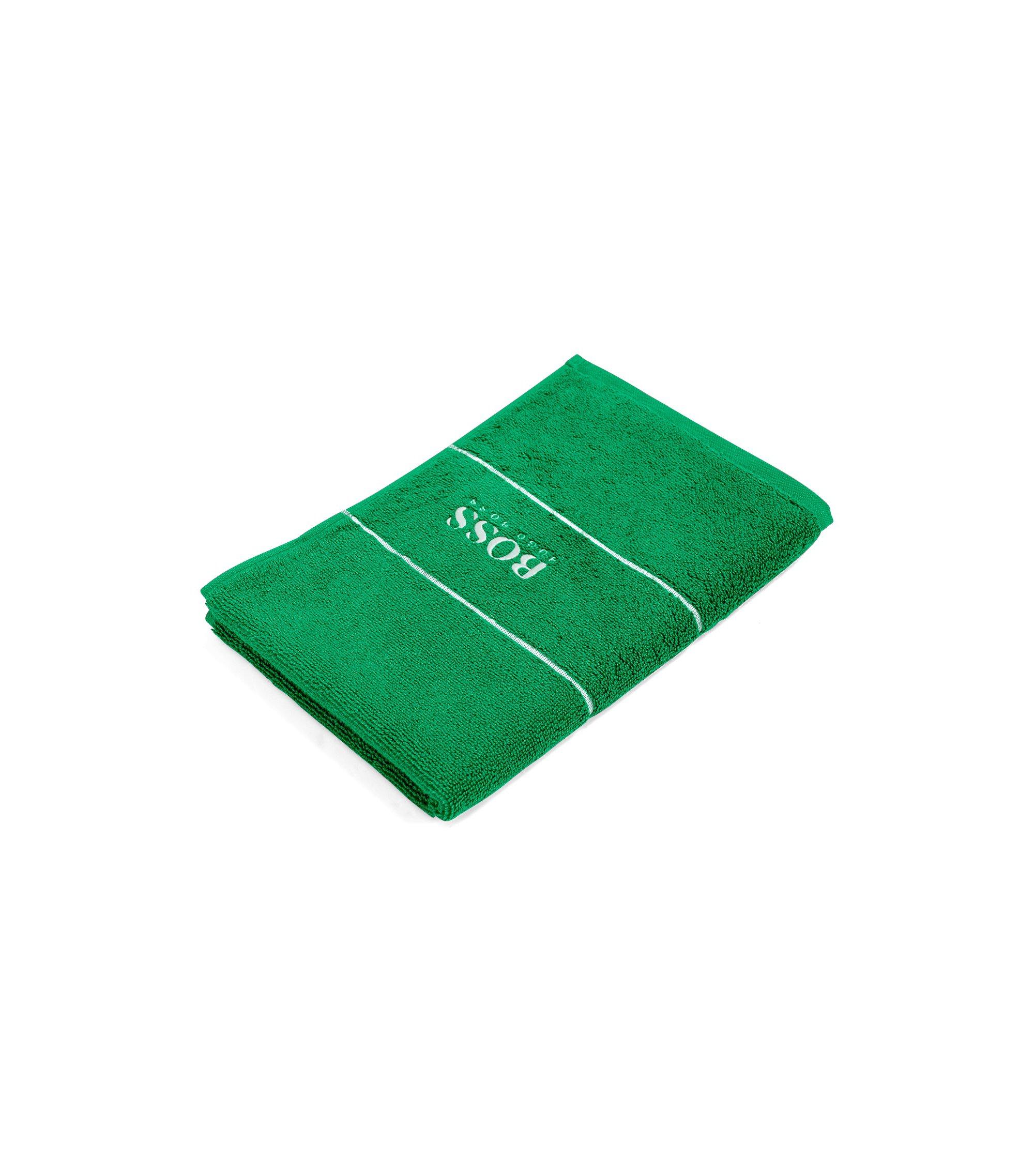 Serviette de toilette pour invité en coton égyptien des plus raffinés avec bordure logo, Vert