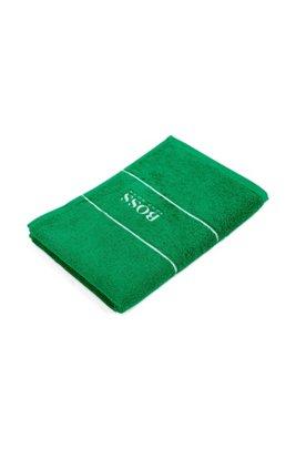 Gästehandtuch aus feinster ägyptischer Baumwolle mit Logo-Bordüre, Grün