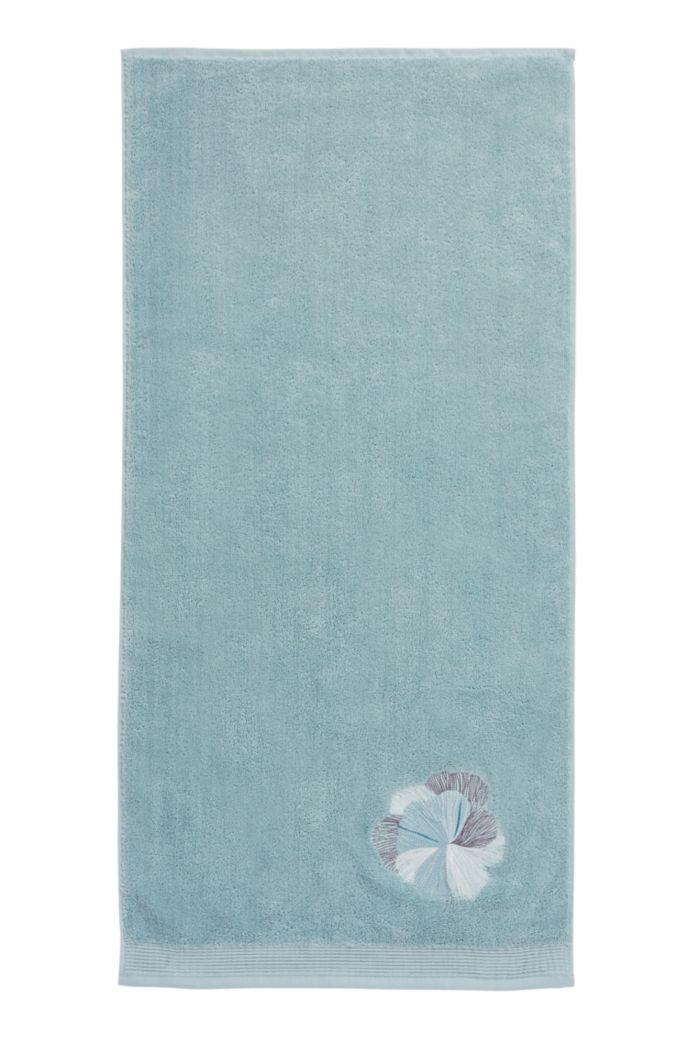 Serviette de toilette en coton avec broderie