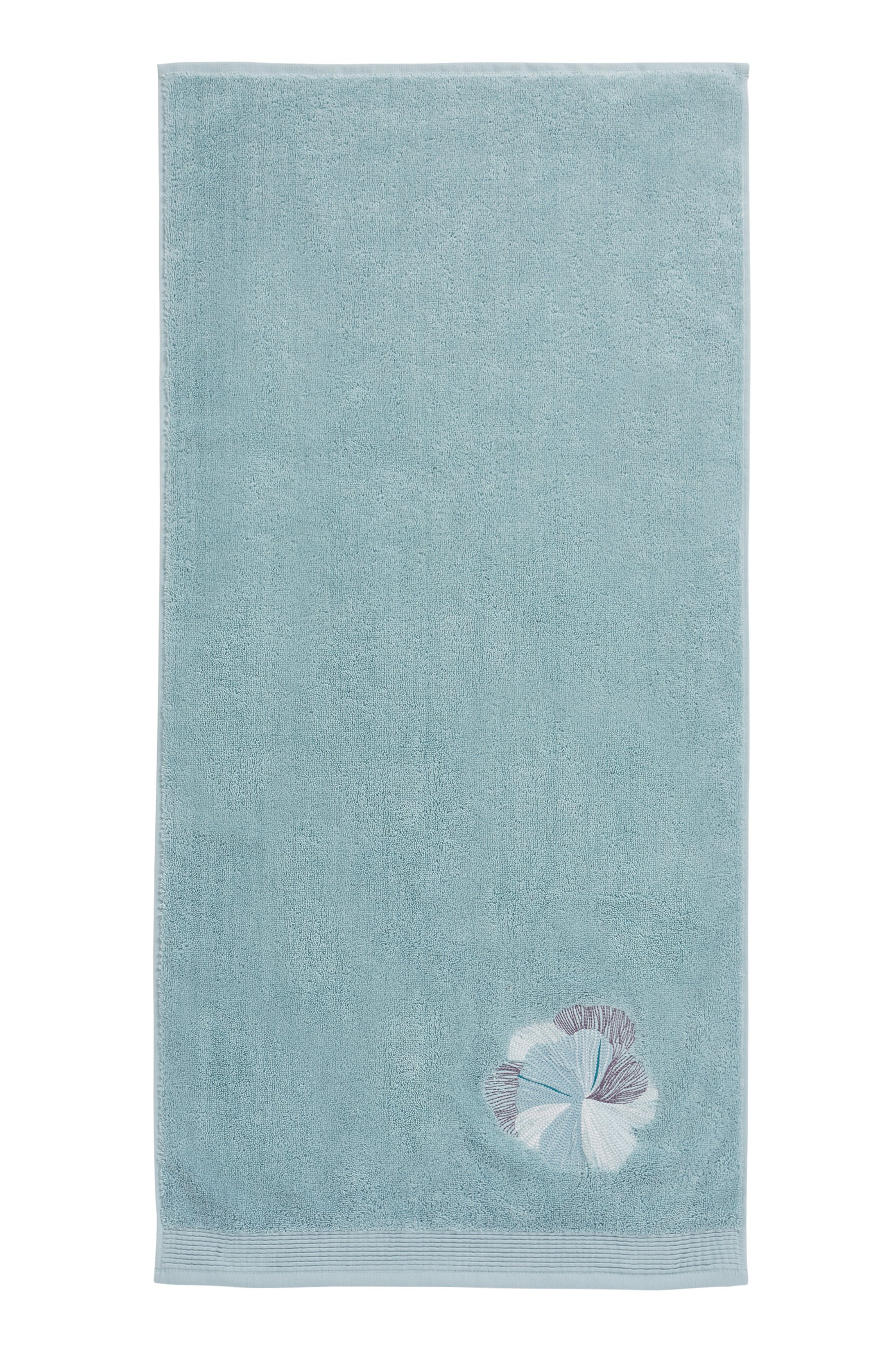 Cotton hand towel with embroidery