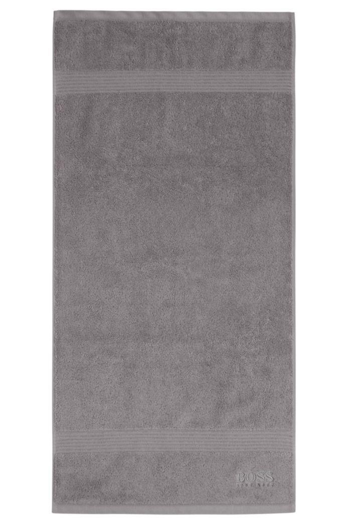 Handtuch aus gekämmter ägäischer Baumwolle mit Ripp-Bordüre