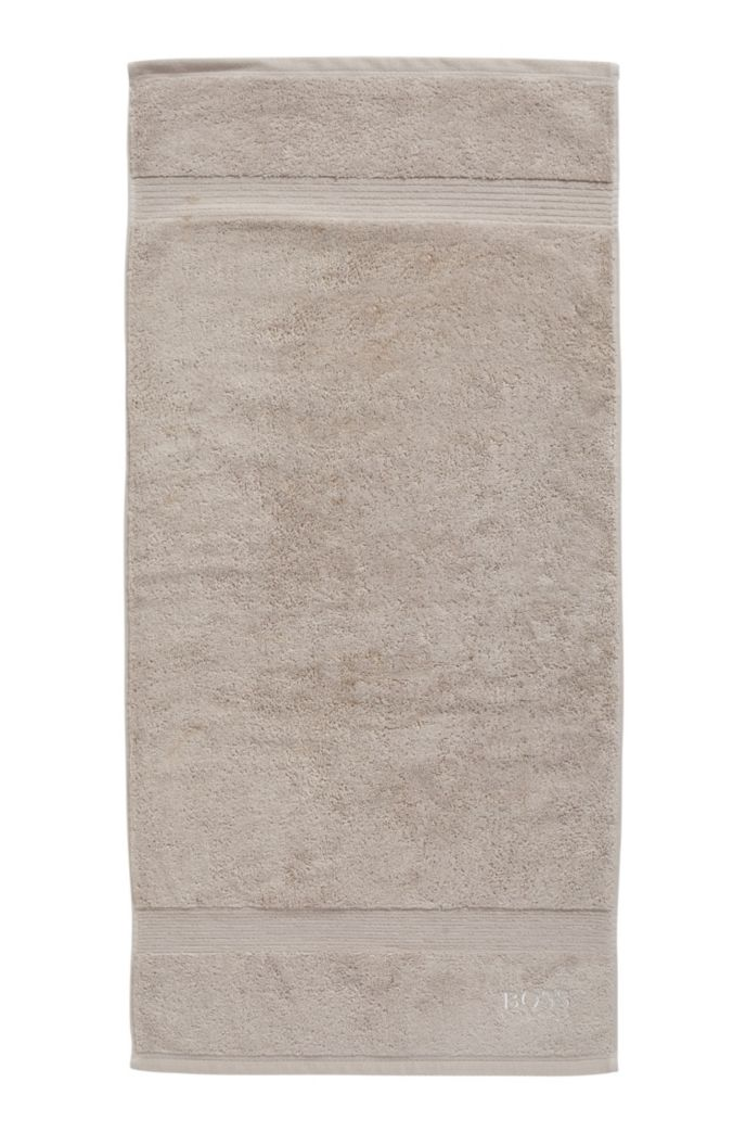 Hand towel in combed Aegean cotton with ribbed border