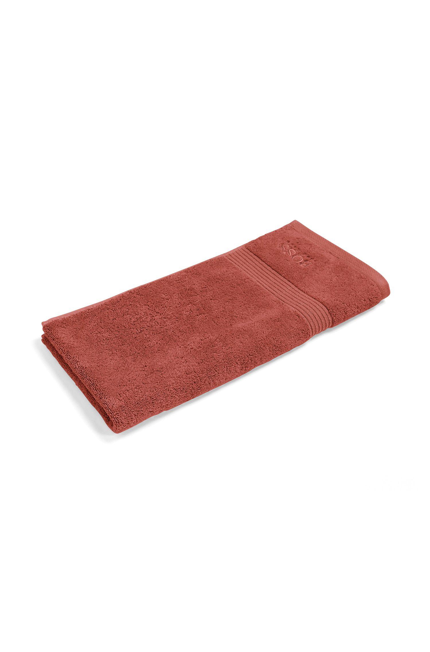 Essuie-main en coton peigné de la mer Égée avec bordure côtelée