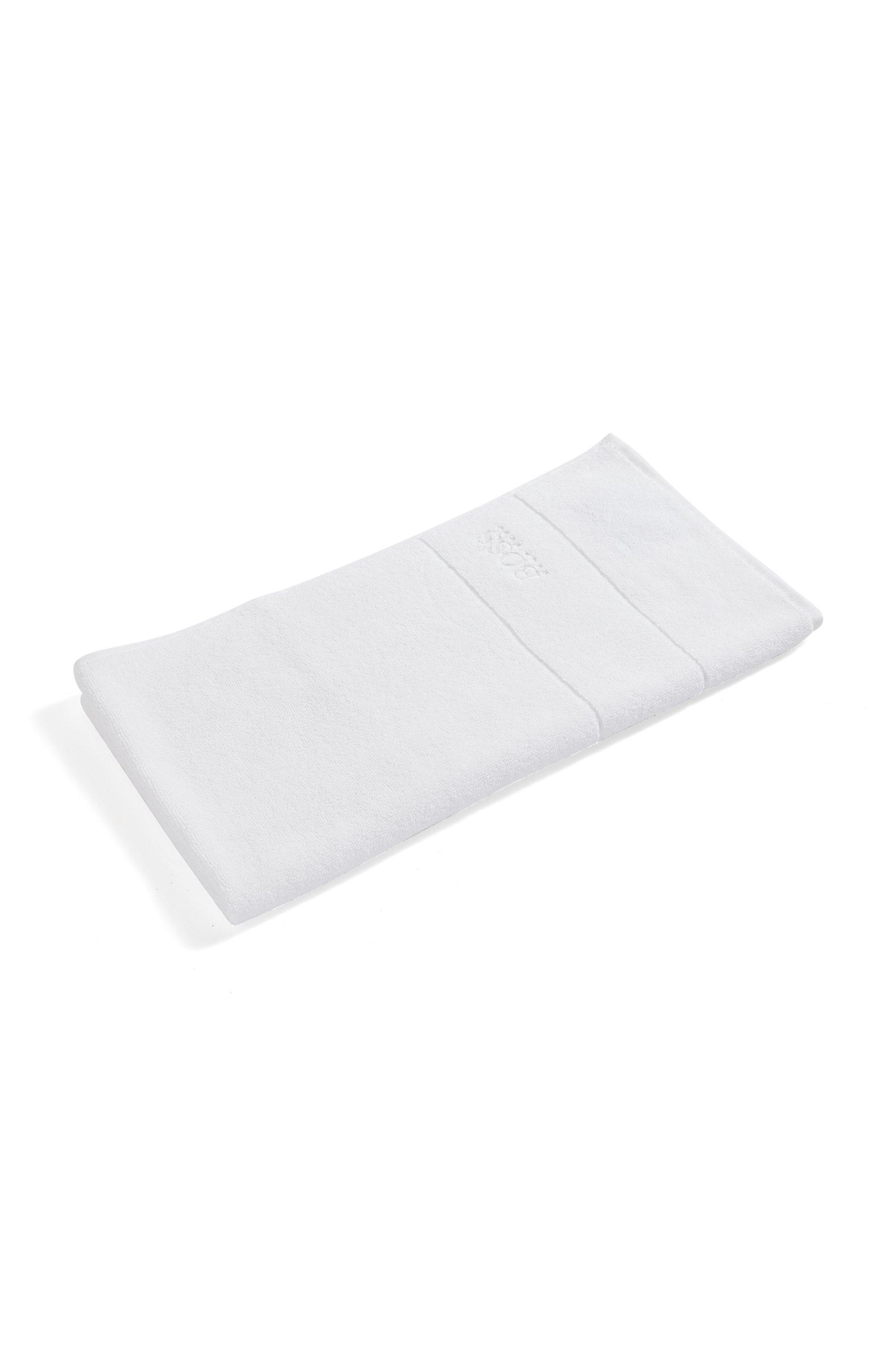 Handtuch aus feinster ägyptischer Baumwolle mit Logo-Bordüre, Weiß