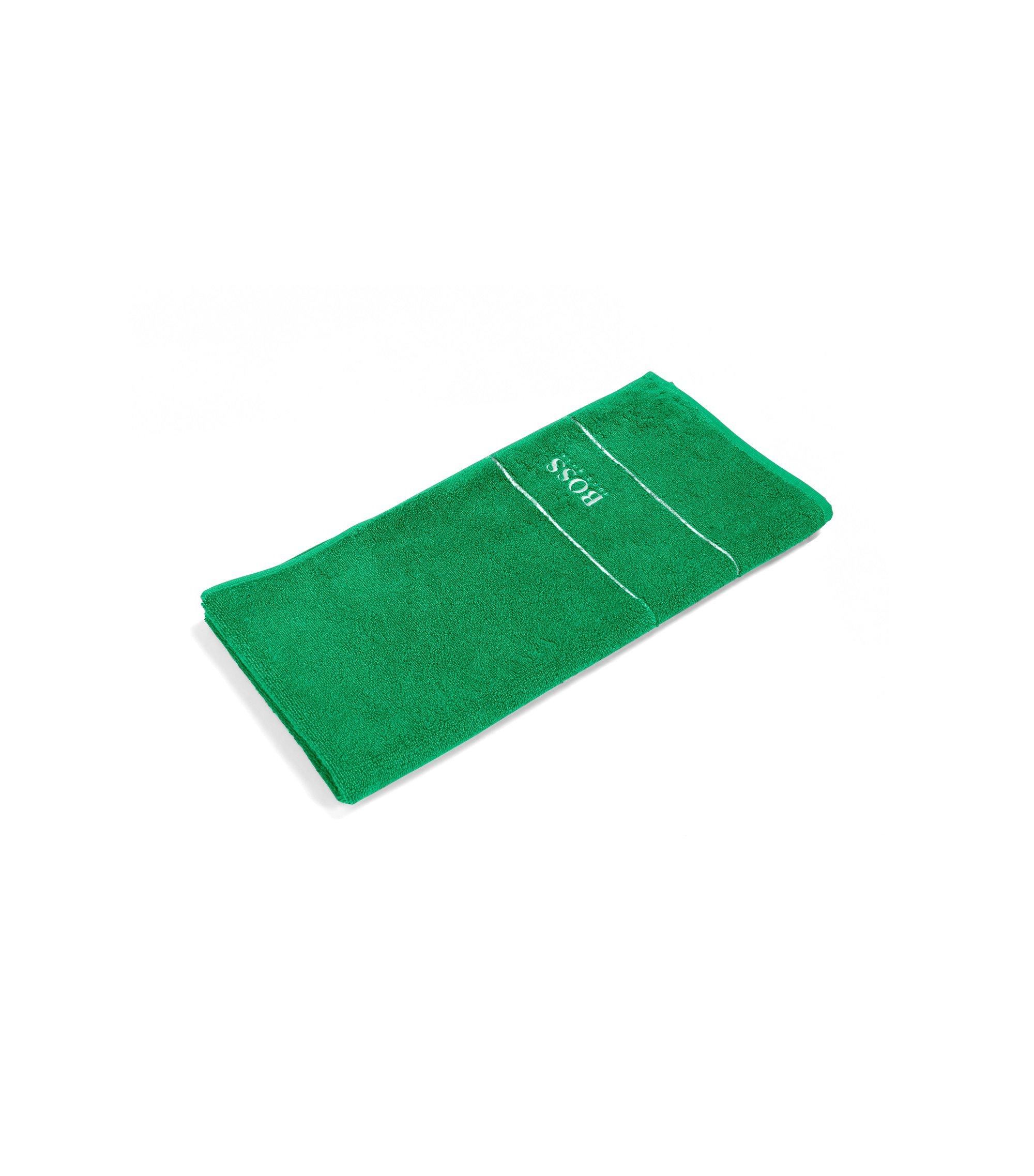 Toalla de mano en algodón egipcio de la máxima calidad con logo en el borde, Verde