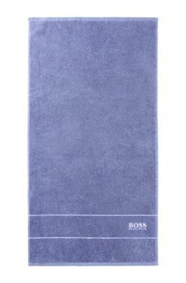 Handtuch aus feinster ägyptischer Baumwolle mit Logo-Bordüre, Blau