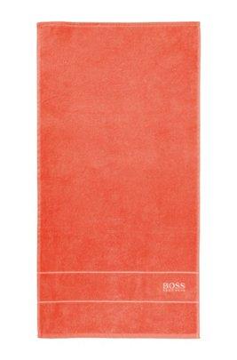 Handtuch aus feinster ägyptischer Baumwolle mit Logo-Bordüre, Orange