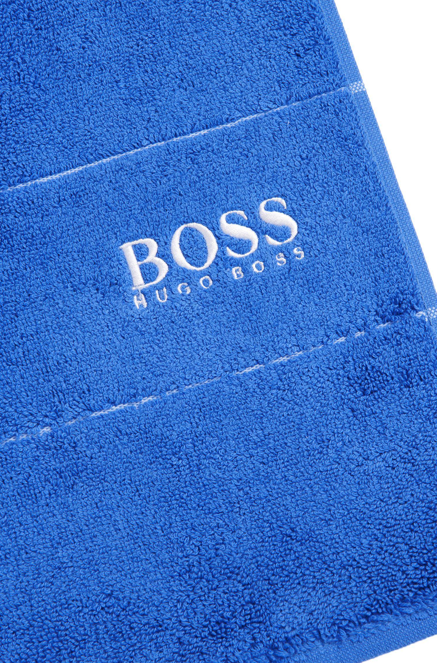 Asciugamano per le mani in raffinato cotone egiziano con bordo griffato, Assorted-Pre-Pack