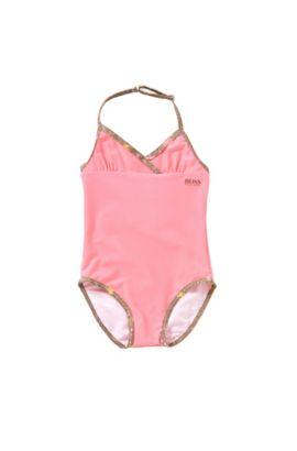 Costume intero da neonato con spallina da allacciare alla nuca: 'J00075', Rosa chiaro