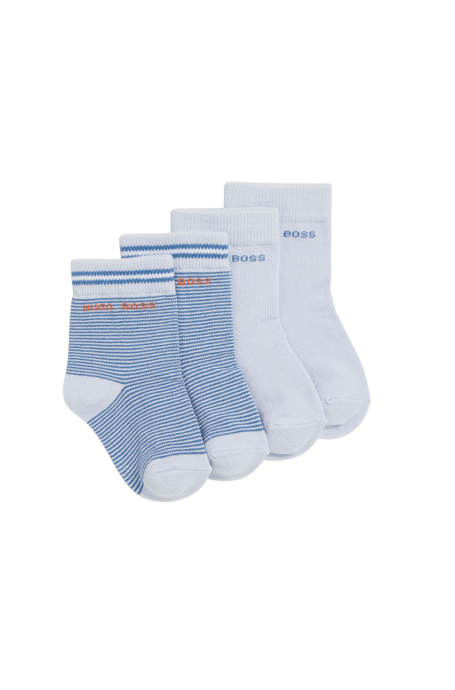 Kids-Socken aus elastischem Baumwoll-Mix im Zweier-Pack: 'J00077'