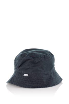 Tweezijdig te dragen vissershoedje voor kinderen 'J01056' van katoen, Donkerblauw