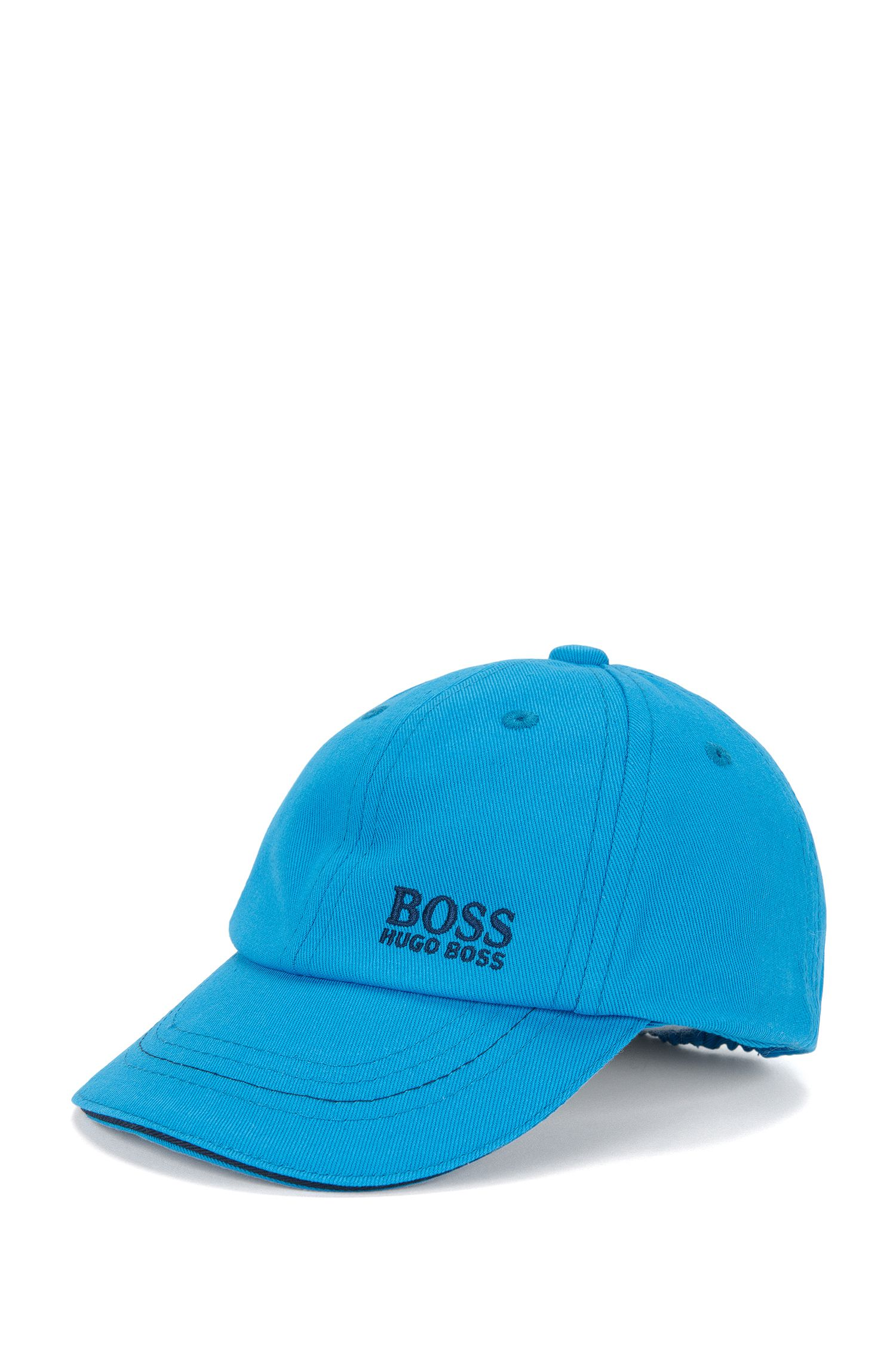 Kids' cap in cotton with an embroidered logo: 'J01074'