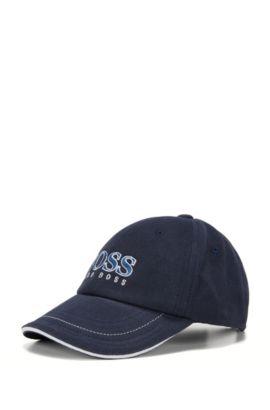 Kids-Cap aus Baumwolle mit großem Logo: 'J01083', Dunkelblau