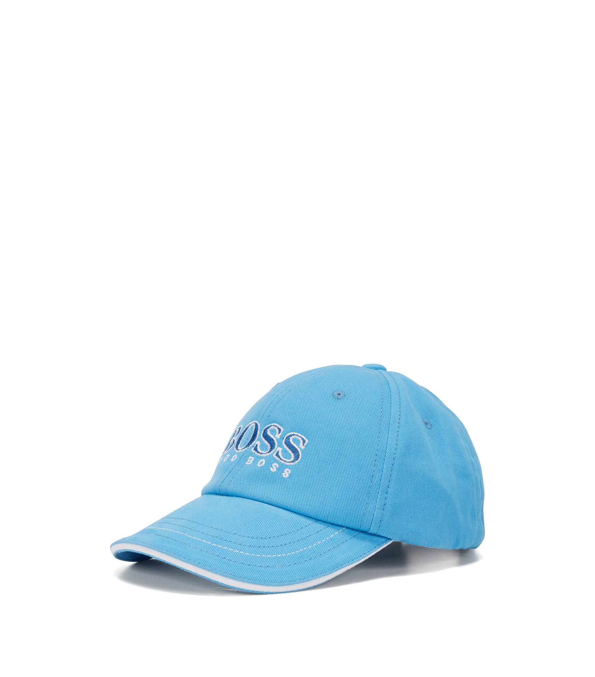 Cappellino per bambini in cotone con logo grande: 'J01083', Turchese