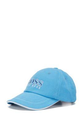 Kids-Cap aus Baumwolle mit großem Logo: 'J01083', Türkis