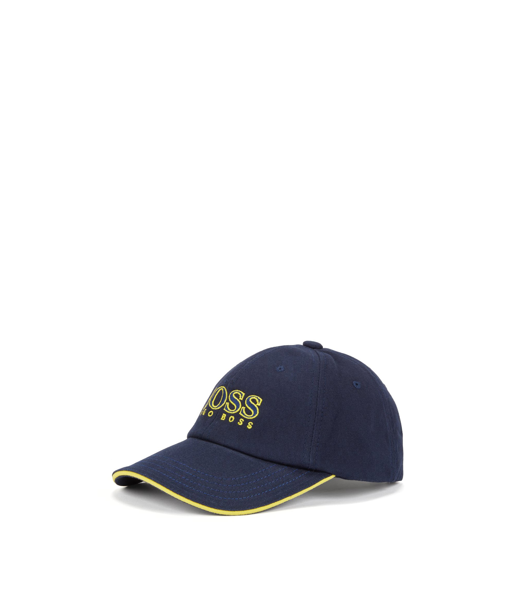 Kids' logo-embroidered baseball cap in cotton twill, Dark Blue