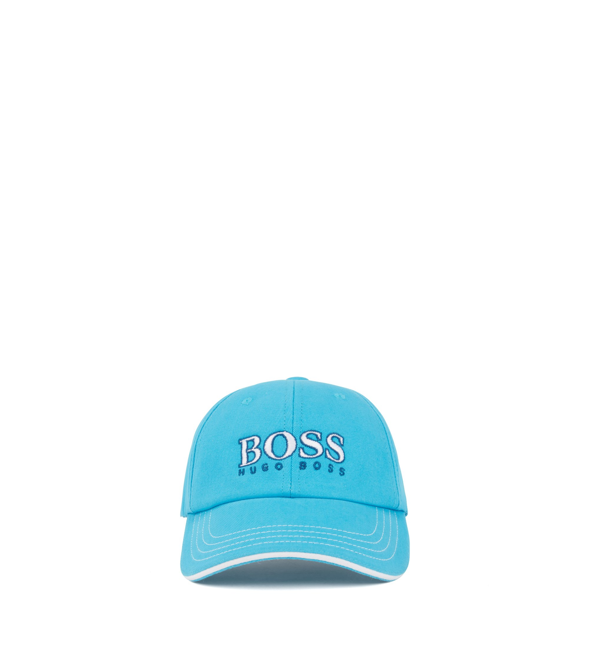 Kids' logo-embroidered baseball cap in cotton twill, Light Blue