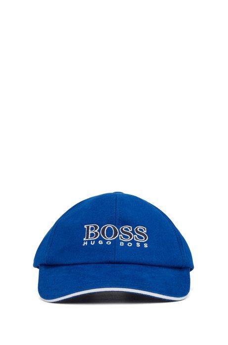 Kids-Cap aus Baumwoll-Twill mit Logo-Stickerei, Blau