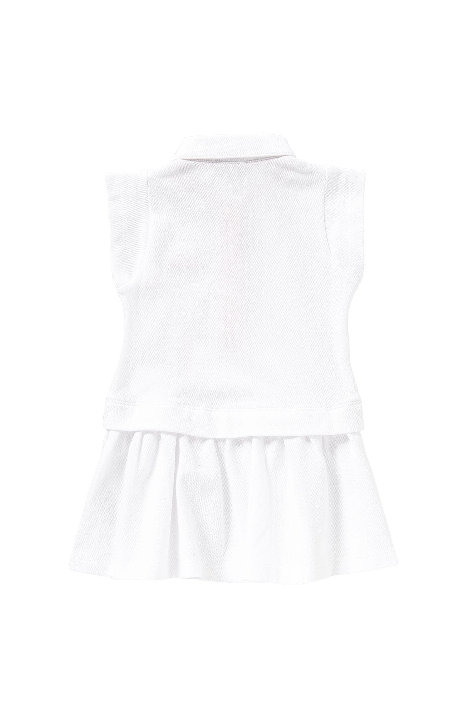 Abito da bambina in cotone elasticizzato in stile polo: 'J02018'