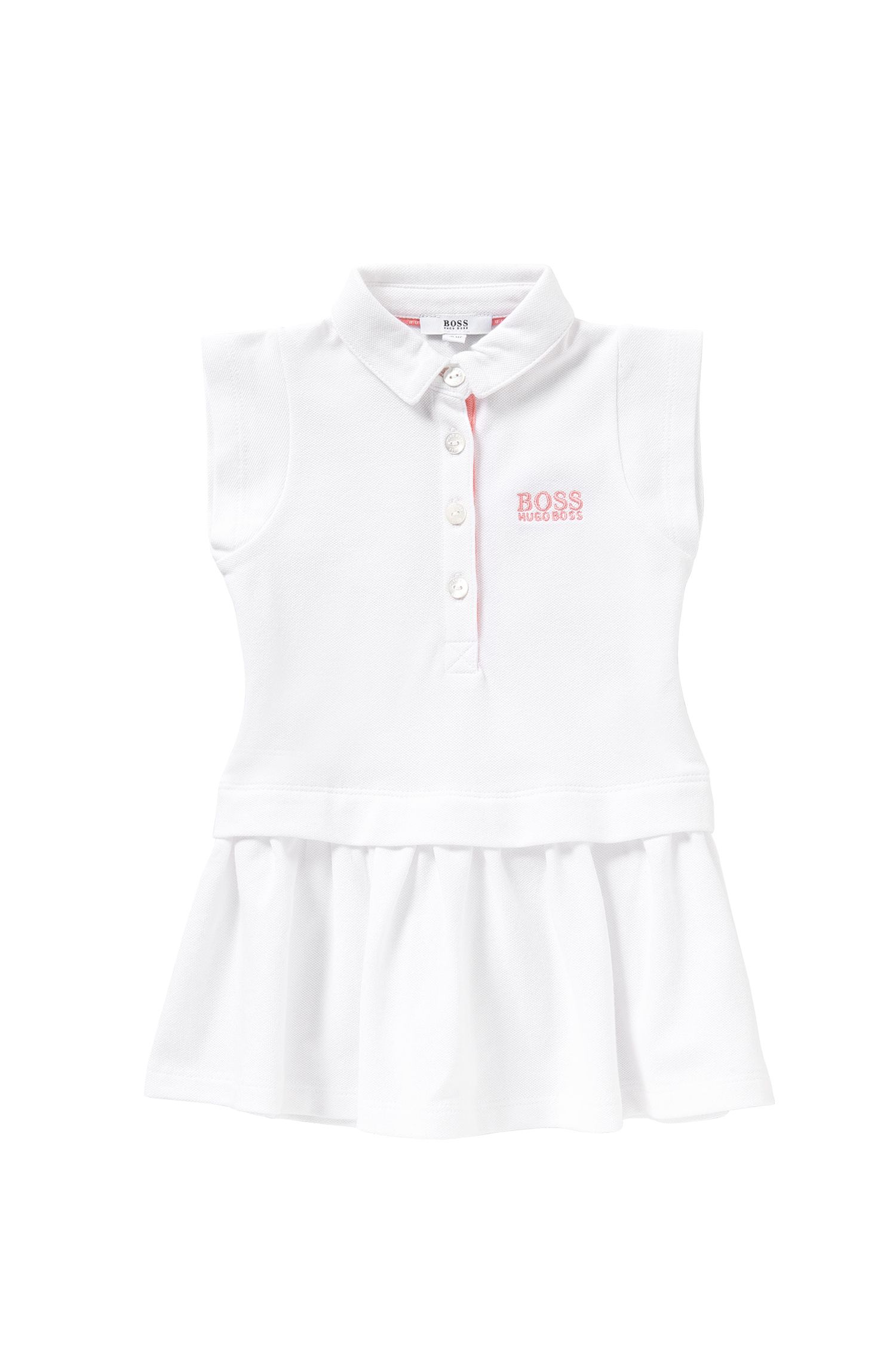 Kids' dress in stretch cotton in polo style: 'J02018'