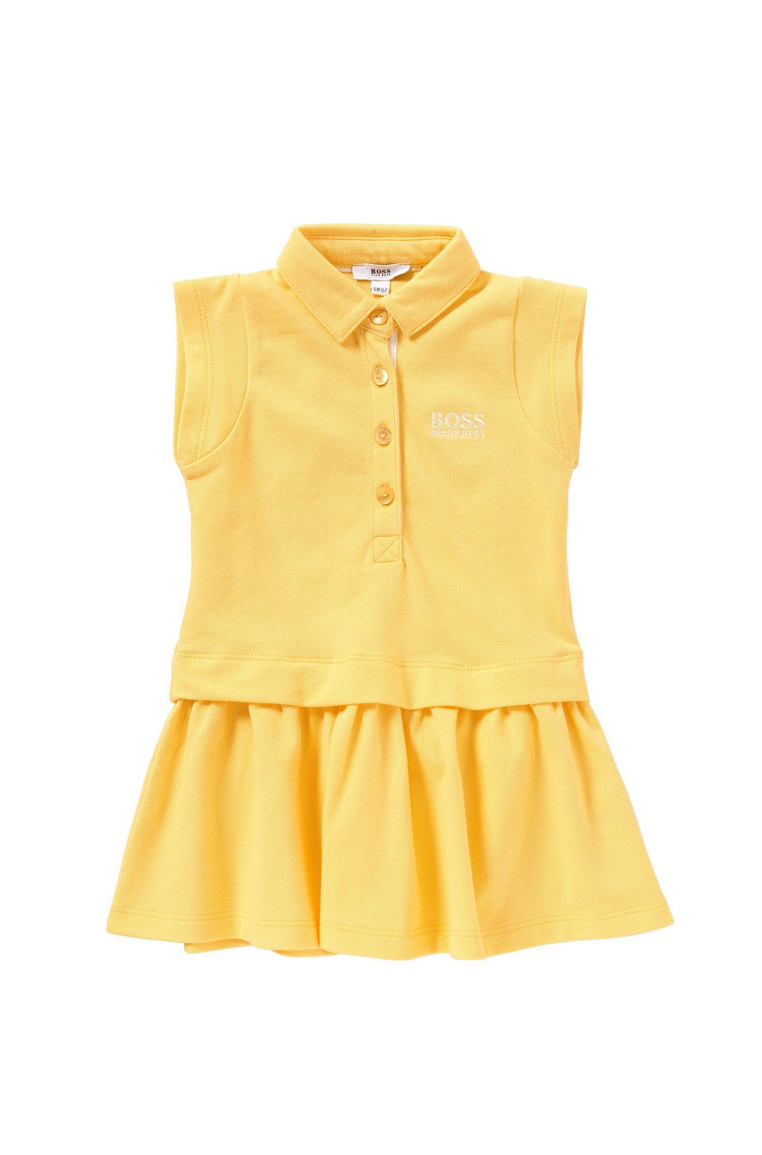 Kids-Kleid aus Stretch-Baumwolle im Polo-Stil: 'J02018'