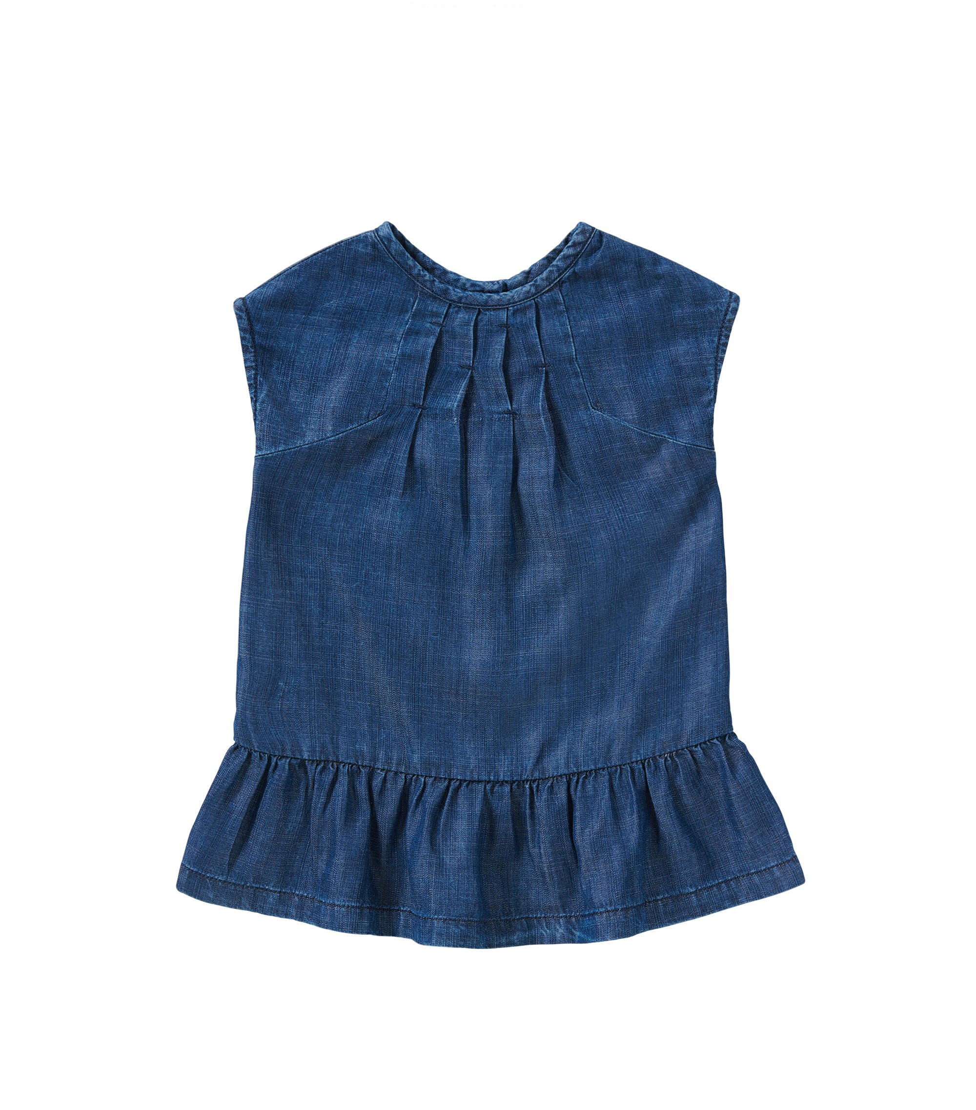 Kids-Kleid in Denim-Optik: 'J02024', Gemustert