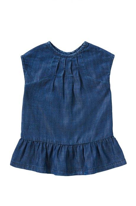 Kids-Kleid in Denim-Optik: 'J02024', Gemustert