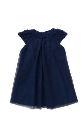 Robe pour bébé avec application à paillettes: «J12151», Bleu foncé
