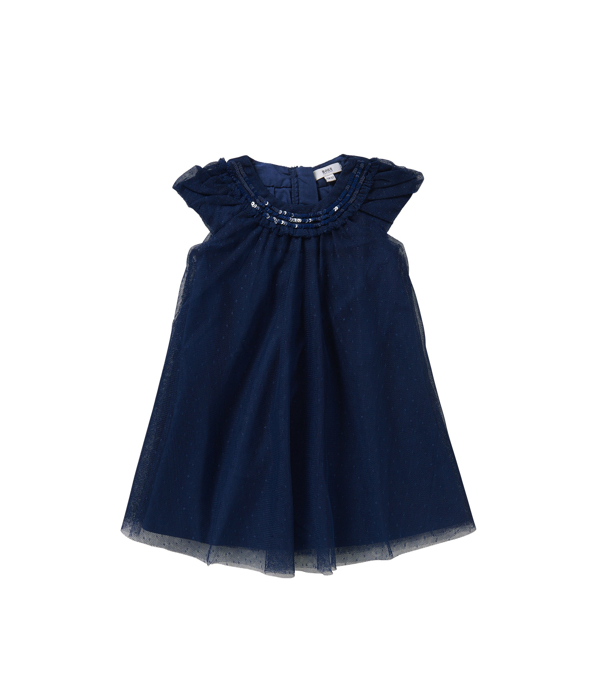 Baby-Kleid mit Pailletten-Applikation: 'J12151', Dunkelblau