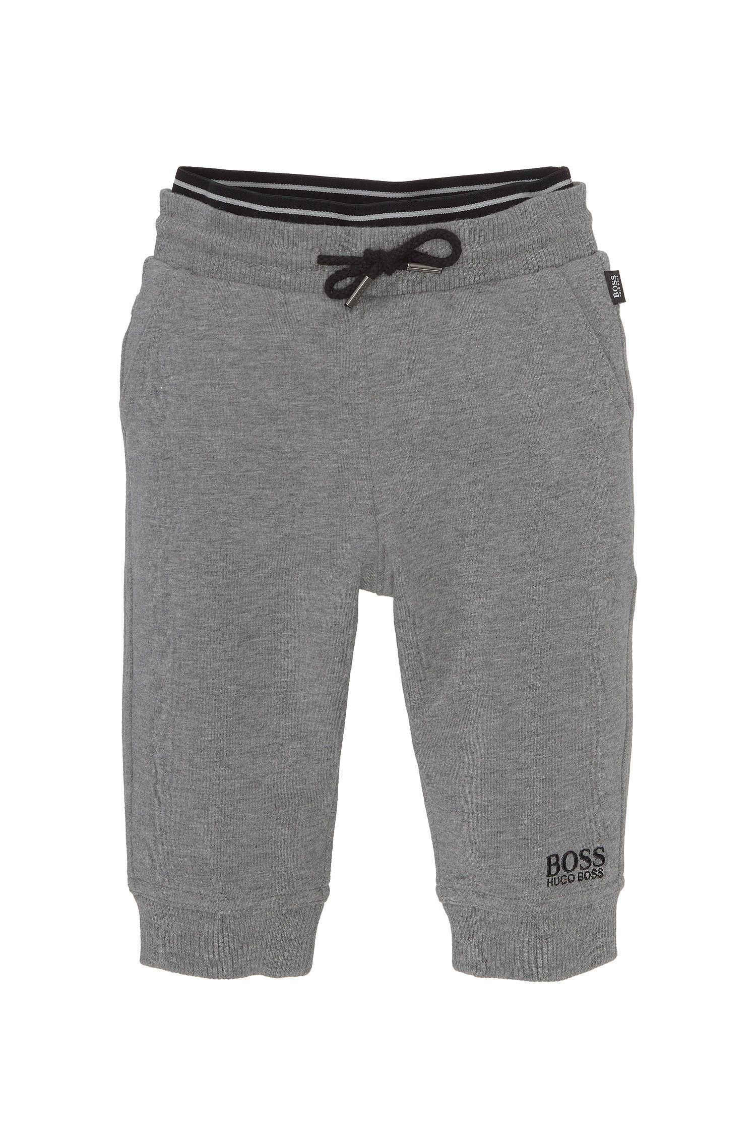 Pantalon de jogging pour enfant «J04158» en coton mélangé, Gris sombre
