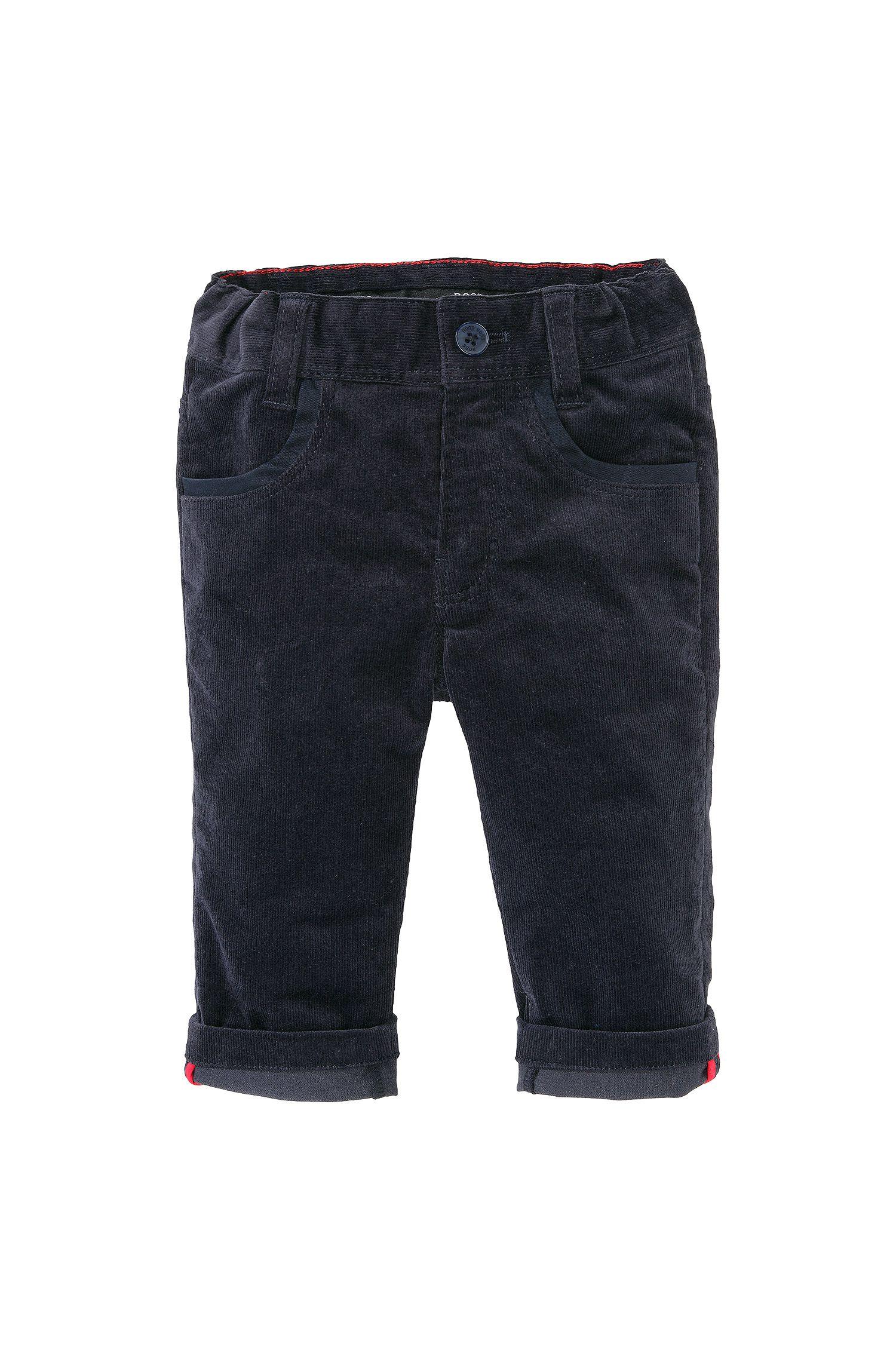 Pantalon en velours côtelé pour enfants «J04163» en coton mélangé