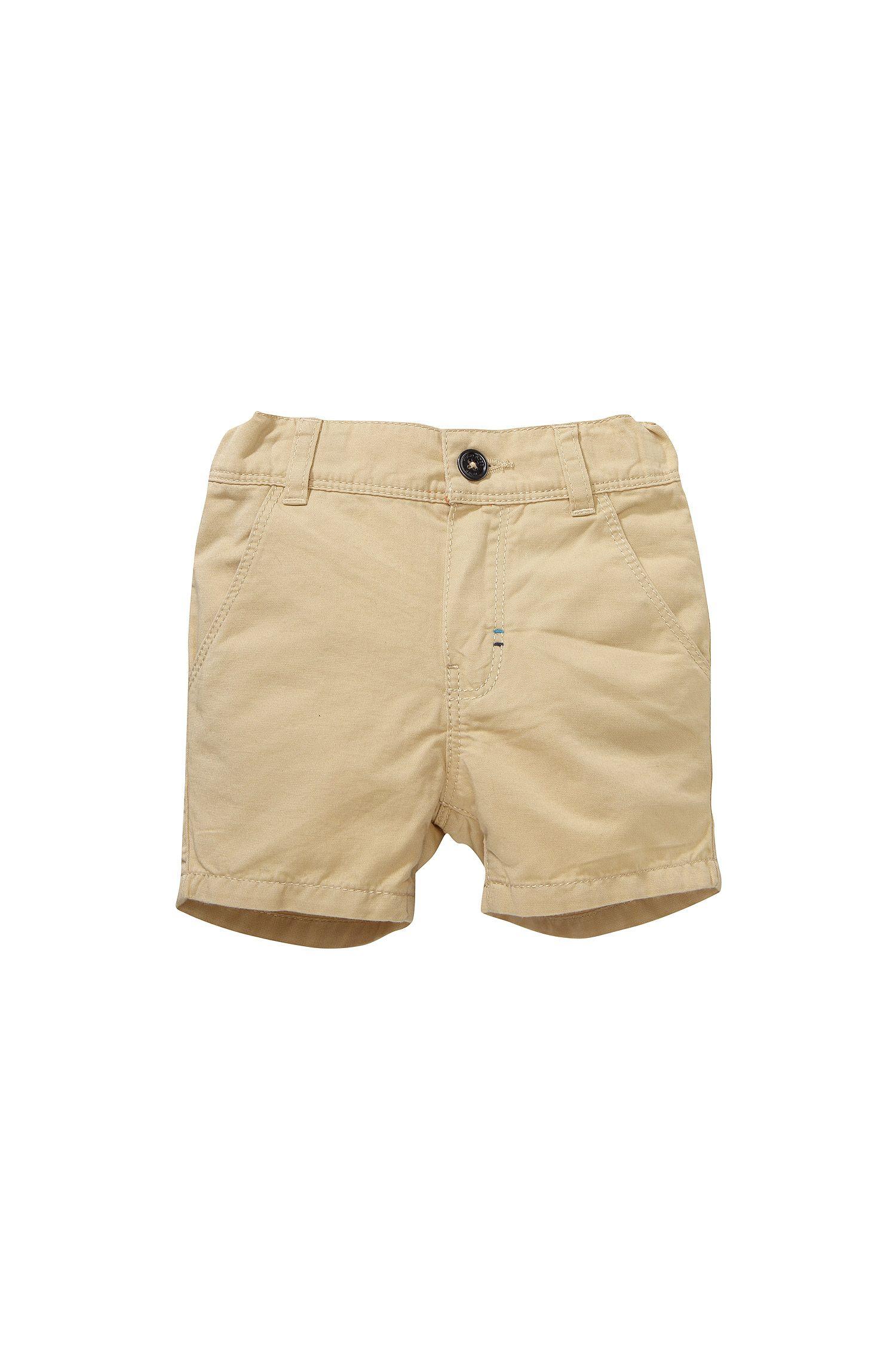 Short pour enfant «J04183» en coton mélangé à du lin