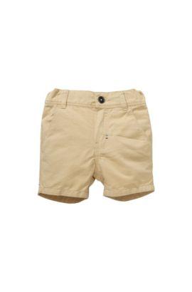 Short pour enfant «J04183» en coton mélangé à du lin, Beige
