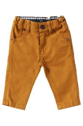 Pantalon pour enfant en coton mélangé: «J04198», Jaune foncé