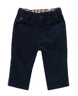 Pantalon en velours côtelé en coton extensible pour bébés: «J04199», Bleu foncé