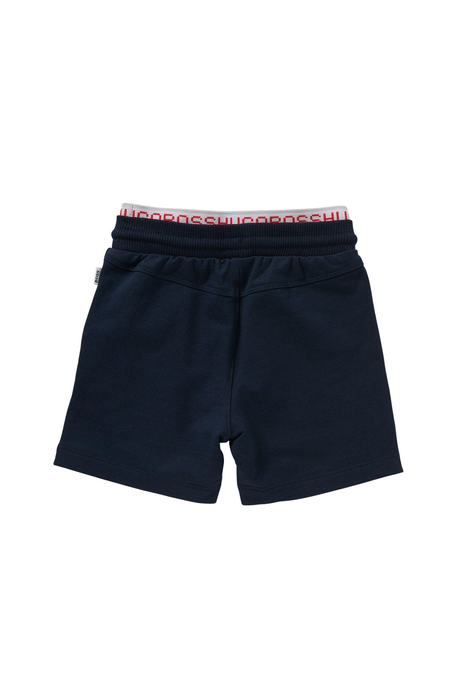 Shorts para bebé en algodón elástico con cintura en dos capas: 'J04216'
