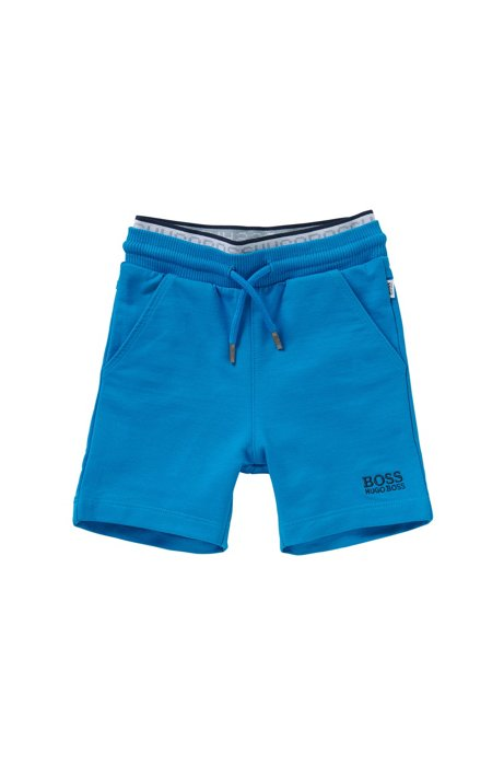 Baby-Shorts aus Stretch-Baumwolle mit doppellagigem Bund: 'J04216', Türkis
