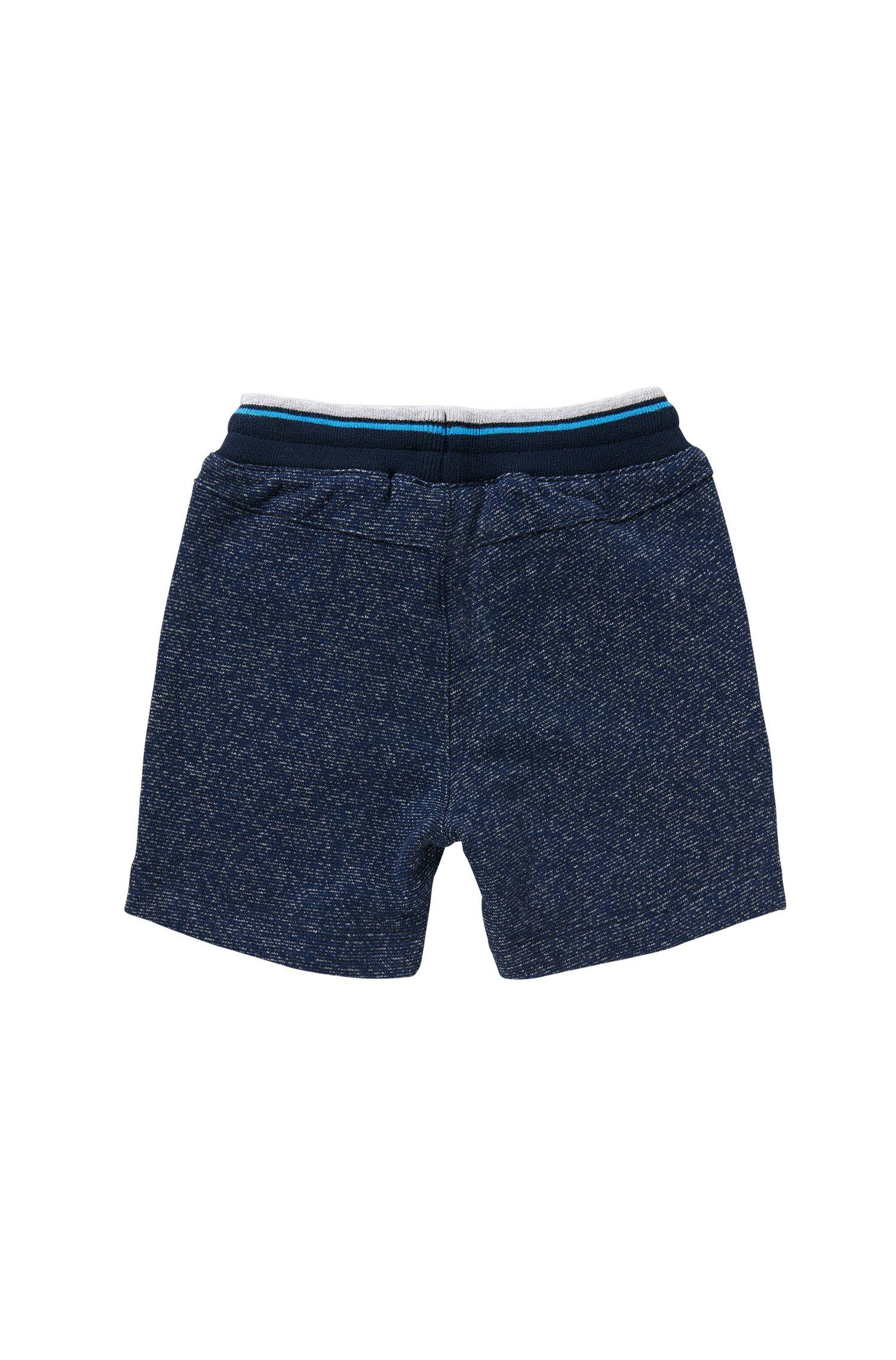 Pantaloni in felpa da neonato in cotone con tasche applicate: 'J04217'