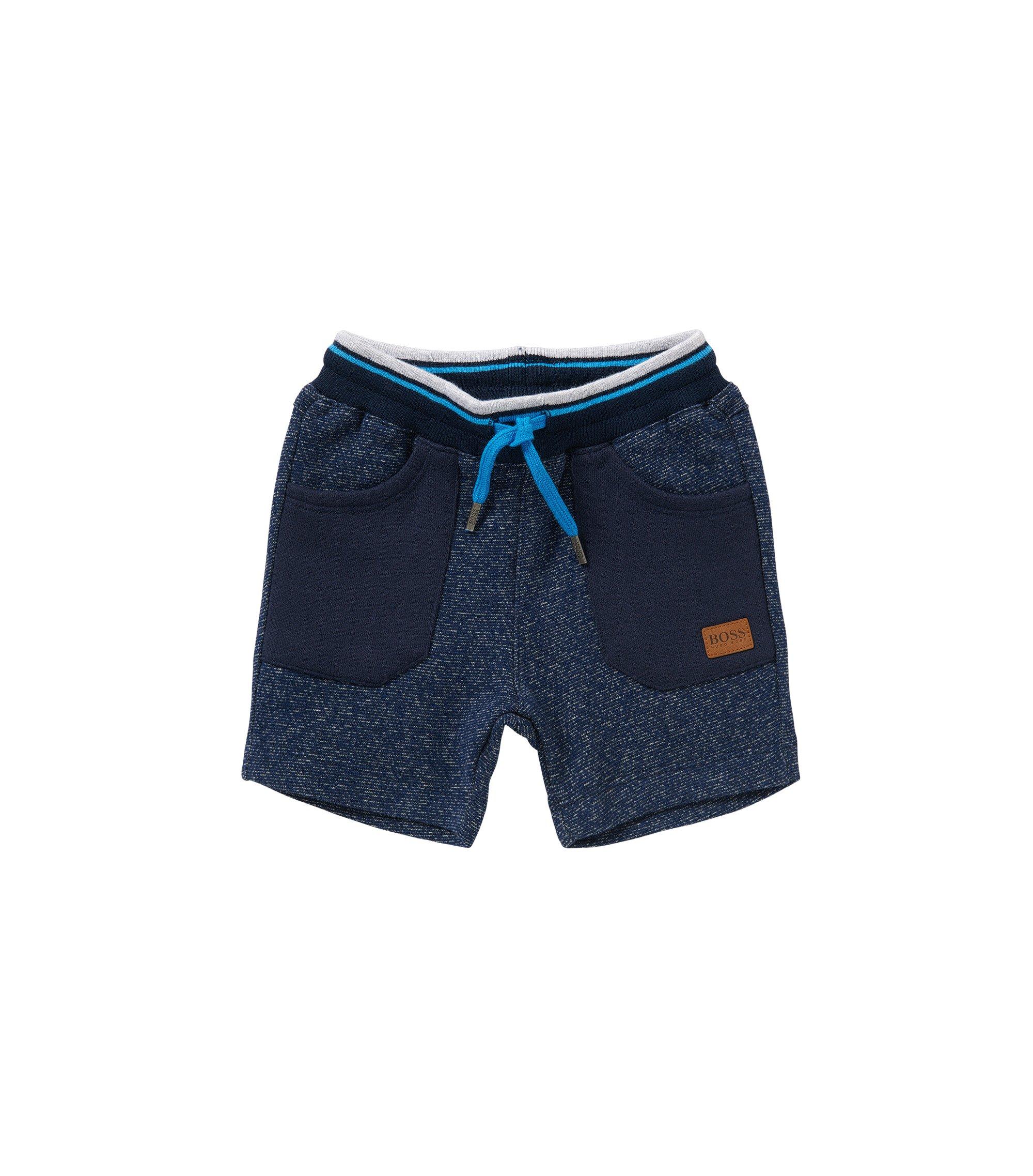 Baby-Sweathose aus Baumwolle mit aufgesetzten Taschen: 'J04217', Dunkelblau