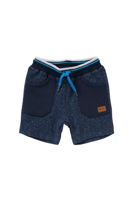 Pantalon sweat pour bébé en coton avec poches plaquées: «J04217», Bleu foncé