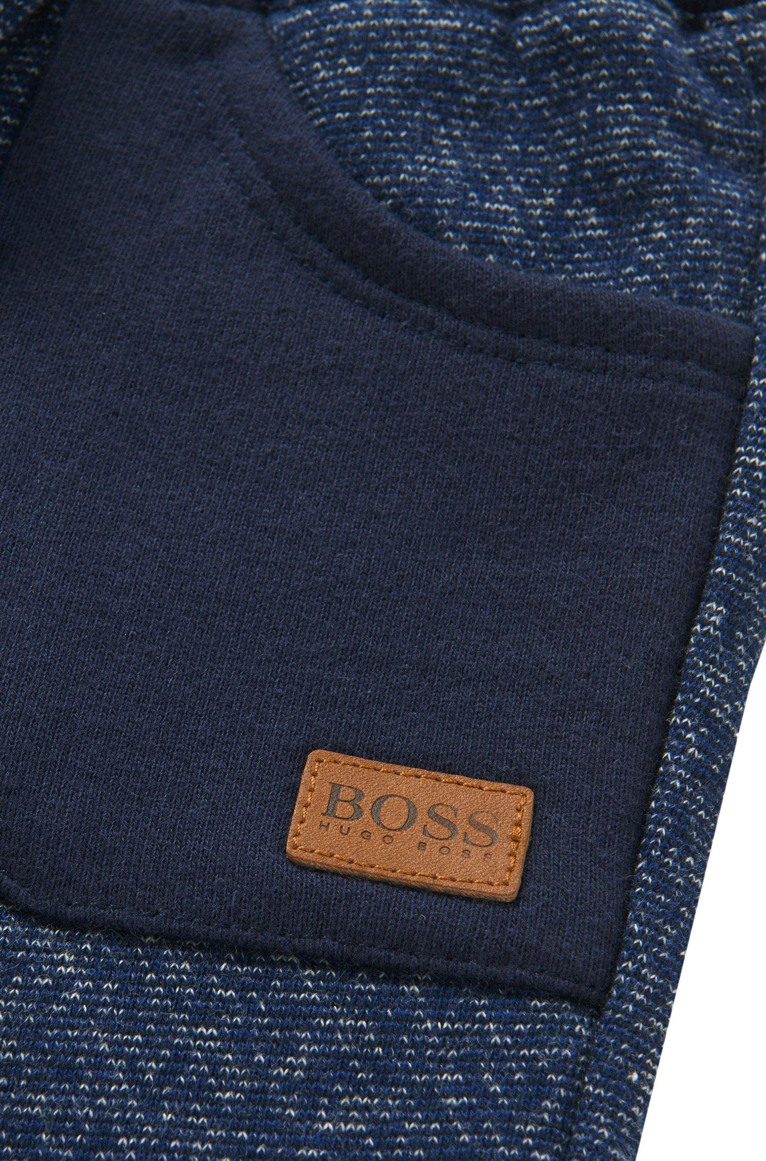 Newborns' tracksuit bottoms in cotton with patch pockets: 'J04217'