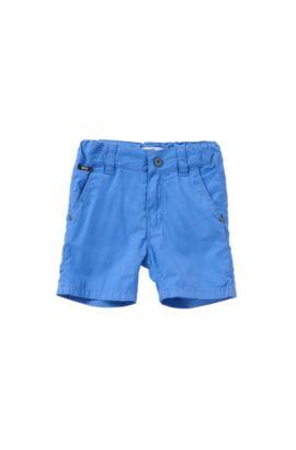 Shorts regular fit en algodón para bebé: 'J04218', Azul