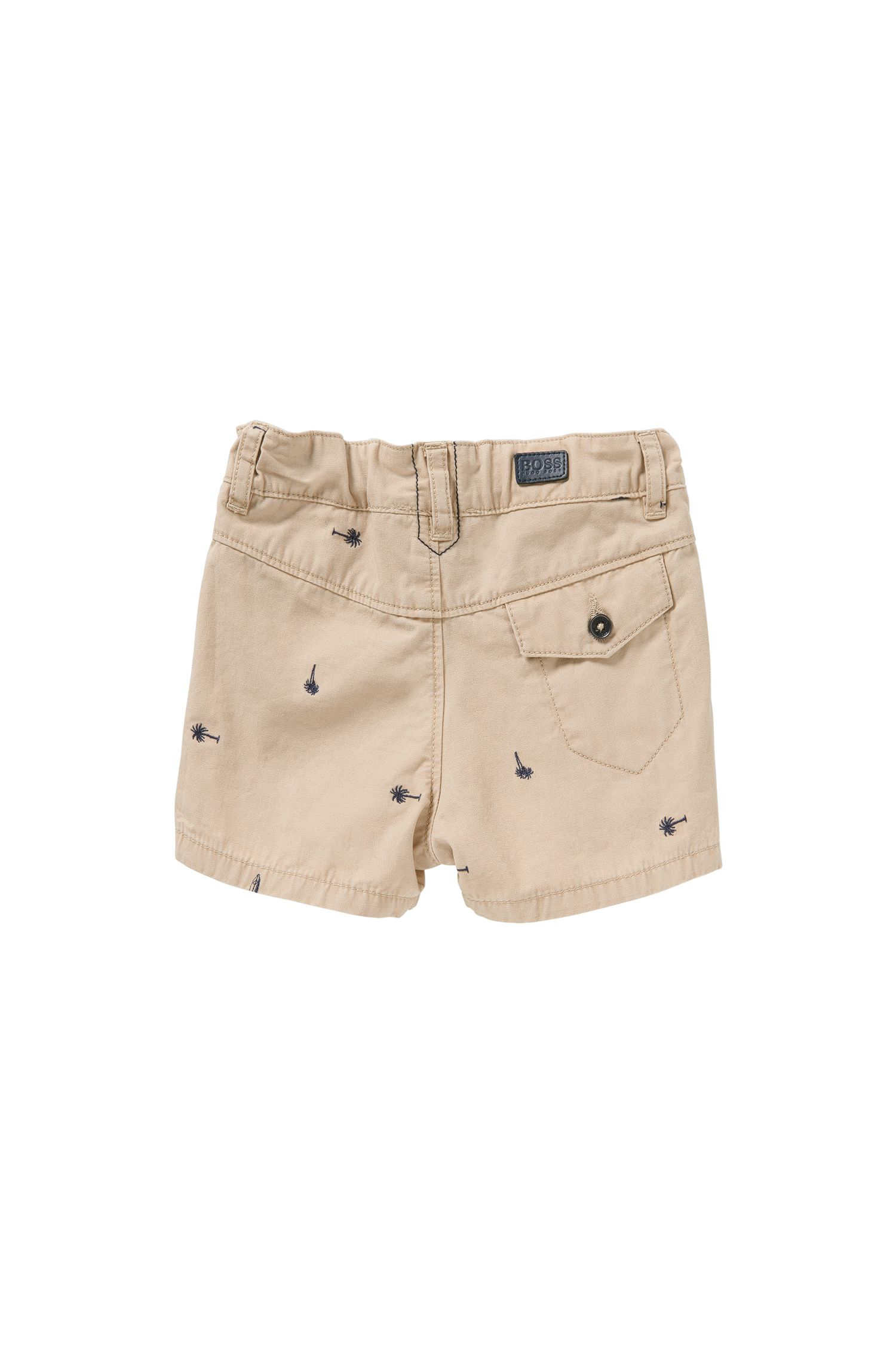 Newborns' shorts in cotton with embroidery: 'J04219'