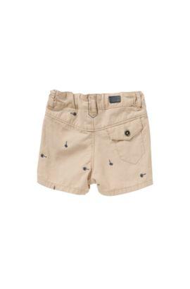 Pantaloncini corti da neonato in cotone con ricamo: 'J04219', Beige
