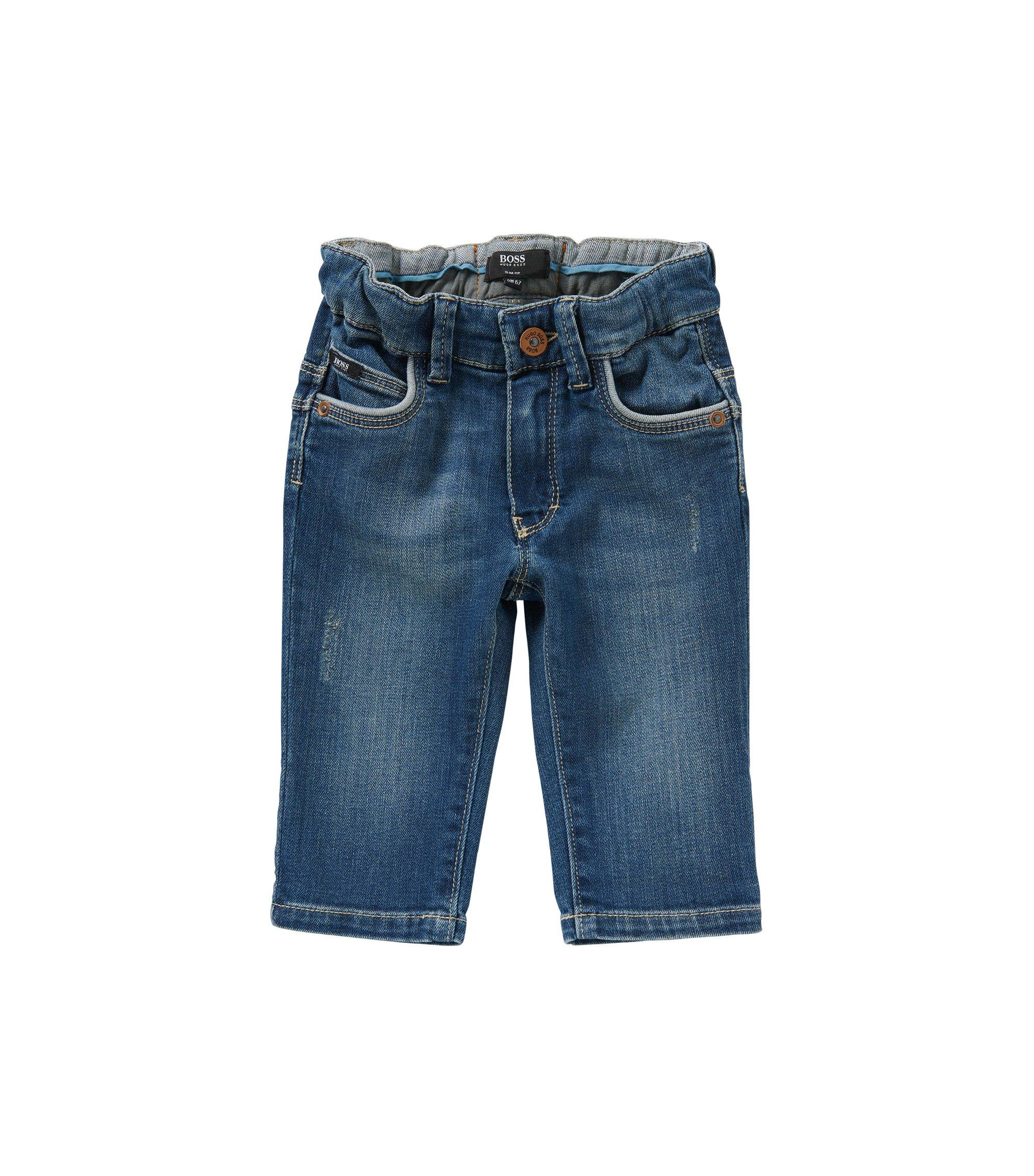Jeans pour bébé Slim Fit en coton stretch: «Montana», Bleu